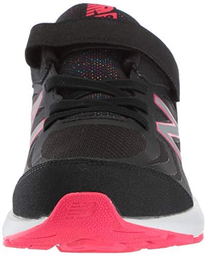 New Balance Girls' 519v1 Hook and Loop Running Shoe Black/Rainbow 2 M US Infant by New Balance (Image #4)