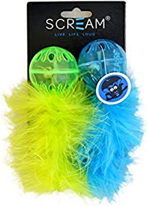 SCREAM Cat Toy, Loud Green & Blue