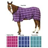EQ EZ-Care Stable Sheet Plaid 81 Turquoise Plaid