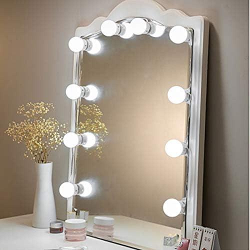 Wiederaufladbare Spiegelleuchten mit 10 dimmbare Lampen LED Rasierspiegel Lichter Kit 3 Farbmodi und 9 Helligkeit for Make-up und Schminkspiegel