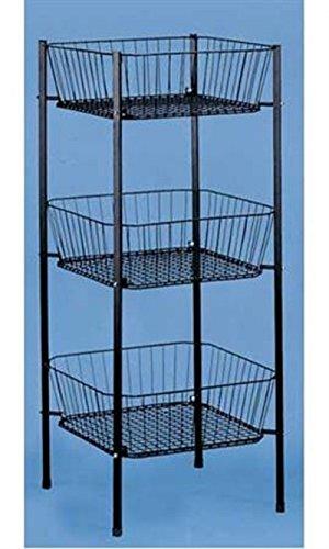 Black 3-Tier Square Wire Dump Bin 19