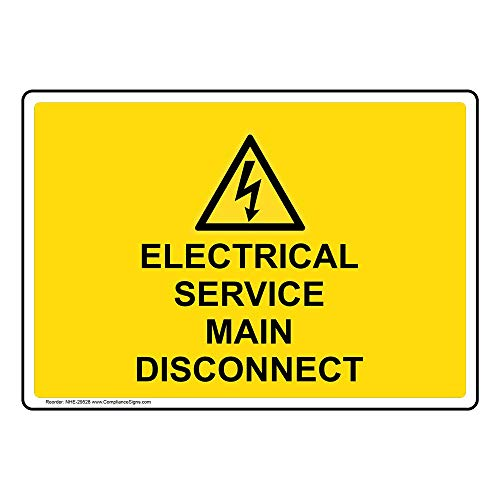 service disconnect sign - 5