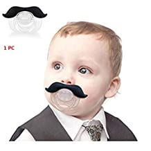 Distinct® Baby Pacifier Nipple Funny Novelty Gentleman Mustache For Infants Newborns Boys and Girl 3 Months or More
