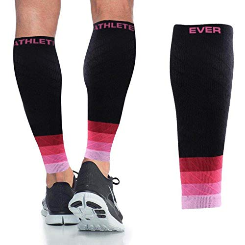 Ever Athlete Ombré Compression Calf Sleeves Black/Pink (The Best Athlete Ever)