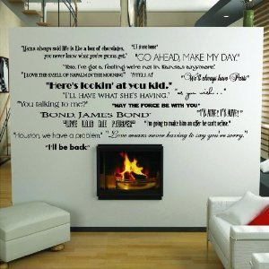Classic Movie Quotes Wall Saying Vinyl Lettering Home Decor Decal Stickers  Quotes Part 91