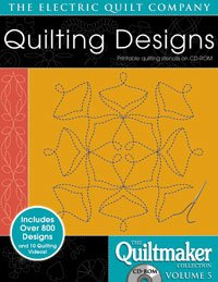 Electric Quilt Quiltmaker Volume 5 Printable Quilting Stencils on CD-ROM by Quiltmaker