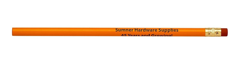 Pencil Guy Promotional Personalized Imprinted Round Pencils.-1000 per Box Orange