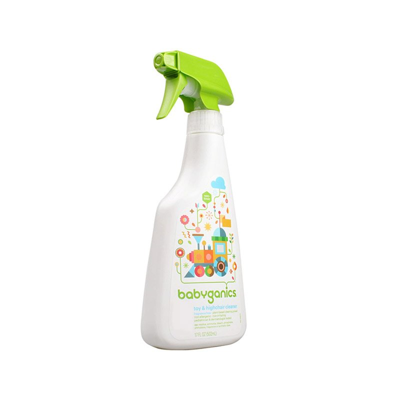 Babyganics Toy & Highchair Cleaner, 17-Fluid Ounce Bottles (Pack of 2), Packaging May Vary