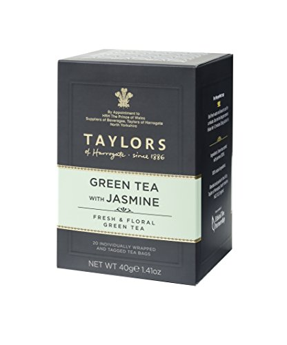 3 Boxes 20 Tea Bags - Taylors of Harrogate Green Tea with Jasmine, 20 Teabags