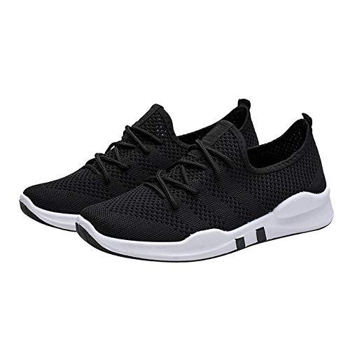 Cinnamou Walking Transpirables Zapatos Negro Mocasines Malla Zapatillas Verano Calzado Para De Mujer Loafer Deportiva Cordones Ligeros Sneakers Caminar zzr7w