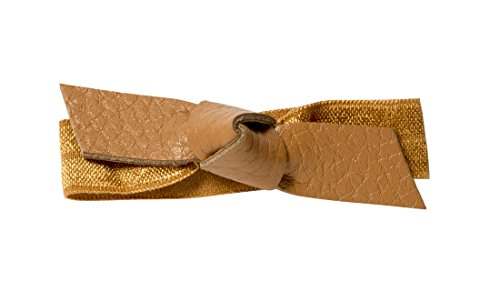 Camel Pebbled - 1907 Leather Bow Hair Tie, Camel NHH038