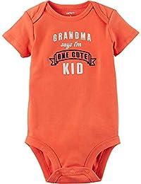 Orange S/S Grandma Says I'm One Cute Kid Bodysuit (Newborn)