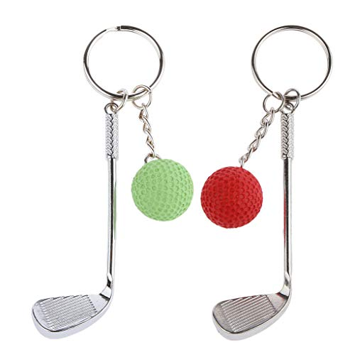 - NATFUR 2Pcs Women Alloy Mini Golf Keychain Keyring Club Ball Keychain Red and Green Key-Chain Cute for Men Holder for Girls Elegant Pretty Novelty Great Beauteous