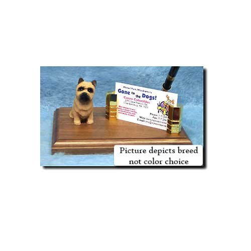 Cairn Terrier Business Card Holder (Cairn Terrier (Wheaten) Desk Set)