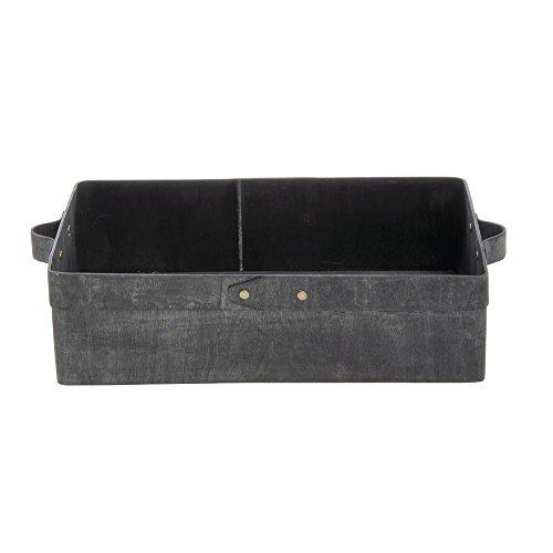 American Metalcraft Black Poplar Wood Box Rectangular 8 1/2L x 5 3/4W x 2 3/4H
