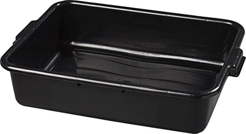 Carlisle 44010SKD03 Comfort Curve Bus Box/Utility Box, 5'' Deep, Black (Pack of 300) by Carlisle