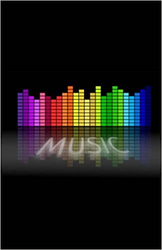 Equalizer Rainbow Music Pattern Dot Grid Notebook - 250 Pages: Word