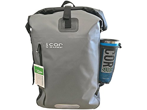 Cor - Waterproof Backpack - with Padded Laptop Sleeve 40L Grey - Dry Backpack -