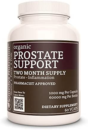 Prostate Support Remedys Nutrition Vegan, MEGA Strength 1000 mg per Capsule/ 60.000 mg per Bottle Vegan Vcaps (Check Supplement Facts Box for a List of Organic Ingredients)
