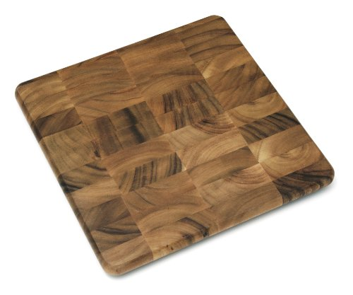 Lipper International 1014 Acacia Wood Square Kitchen Chopping Block for Cutting or Serving, 14-Inch (Rectangle Maple Butcher Block Tabletop)