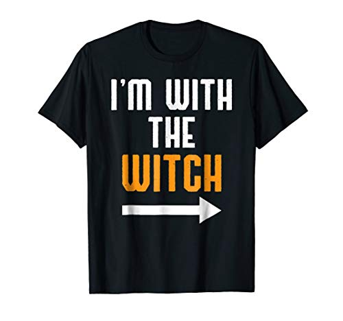 I'm With The Witch Shirt Funny Halloween Couple Costume Gift