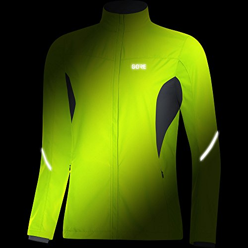 Gore Women's R3 Wmn Partial Gws Jacket, neon Yellow/Black, M by GORE WEAR (Image #2)