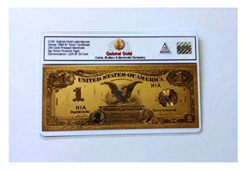 Gold Banknote $1 Silver - Silver Certificate