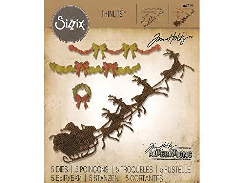 Sizzix Tholtz Thinlits Die Village Christmastime TH -