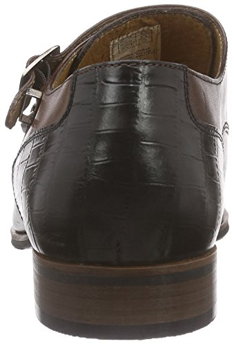 Nebulus Smart - Zapatos Monkstrap Hombre Marrón