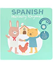 Cali's Books Spanish Nursery Rhymes. Press, Listen and Sing Along! Bilingual Spanish - English Sound Book. Best Interactive and Educational Spanish Toy for Baby, Toddler Age 1-3