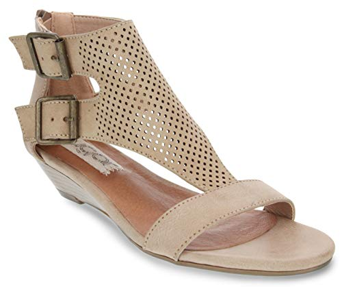 Sugar Women's Wigout Demi Wedge Sandal 6.5 Natural Perf
