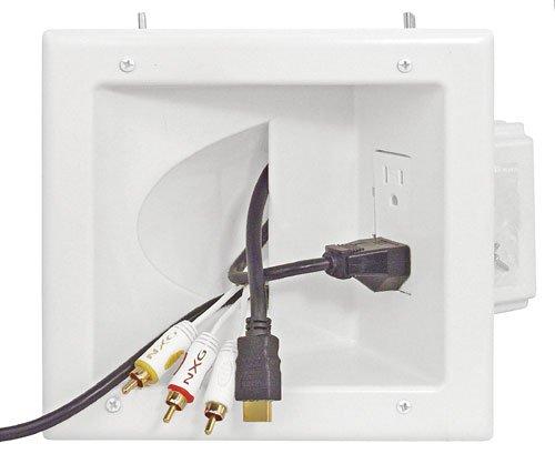 Recessed Low Voltage Media Plate With Duplex Receptacle-1 per case