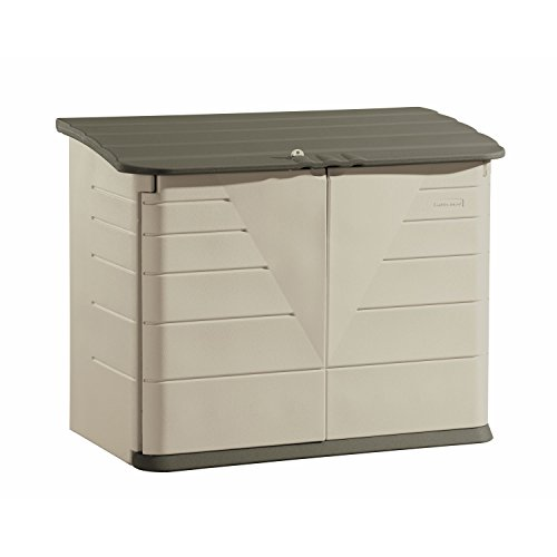 Rubbermaid Outdoor Horizontal Storage Shed, Large, 32 cu. ft., Olive/Sandstone (FG374701OLVSS) by Rubbermaid