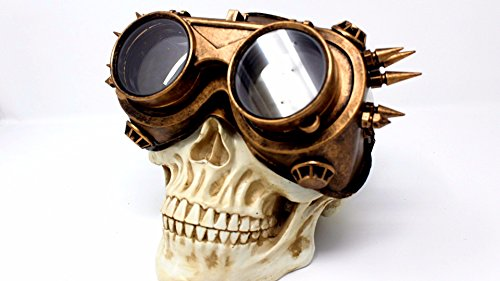 Burning Costumes Man (Steampunk Flip Aviator Goggles Apocalypse Goggle Sunglasses Cosplay Cyber Gothic)