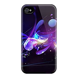 Durable Protector Cases Covers With Abstract Purple Hot Design For Iphone 6