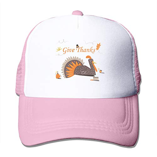 Good Wish Unisex Give Thanks and Turkey Trucker Cap Suitable for Indoor or Outdoor Activities Pink -