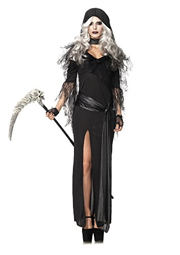 Leg Avenue Women's 2 Piece Sexy Soul Stealer Grim Reaper Costume, Black, Medium/Large]()