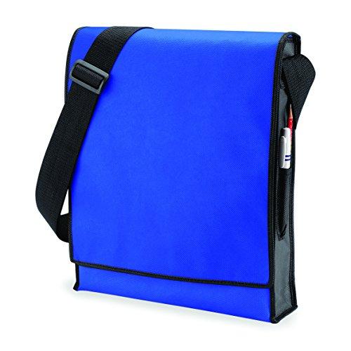 Bolso de bandolera vertical Messenger Bag en verde lima/negro azul real/negro