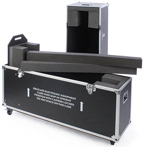 Case, With Wheels And Handles, And EVA Foam Interior For 1 TV - Black Laminate Plywood ()
