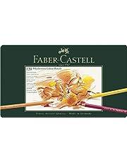 Faber-Castell 110011 Polychromos Kleurpotloden, voor Kunstenaars, Metalen Etui, 120 Stuks Verpakking