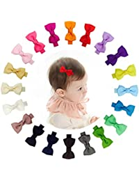 2 Inch Tiny Hair Bows Clips Fully Lined for Baby Girls...