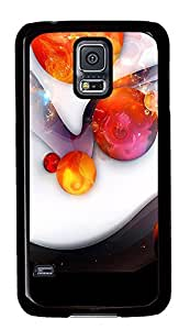 Samsung Galaxy S5 The Amazing Abstract Red Ball PC Custom Samsung Galaxy S5 Case Cover Black