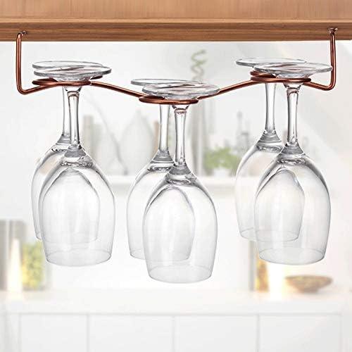 ゴブレットホルダー ワイングラスハンギングラックガラスのカップホルダーハンギングシェルフのキッチンキャビネットやホームバー ワインラック (Color : Bronze, Size : 30*15cm)
