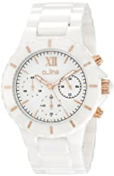 "a_line Women's AL-20041-WWWRR ""Marina"" Ceramic Watch"
