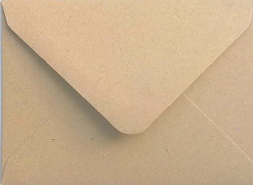 A5 Premium Brown Ribbed Kraft Envelopes by Mad as a Crafter C5