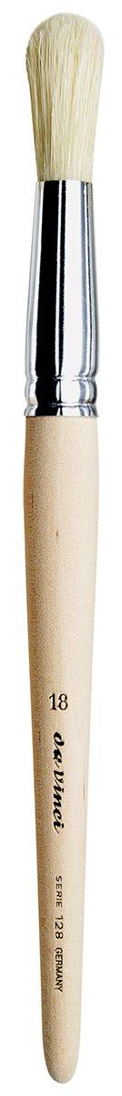 Size 8 129-08 Bright White Chinese Bristles with Plainwood Handle da Vinci Student Series 129 Paint Brush