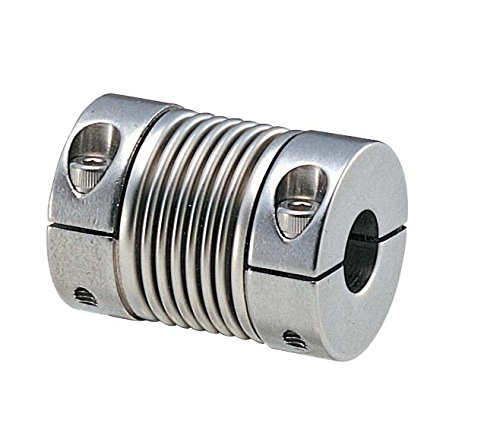 Stainless Steel SUS303 Bore Diameters 6 and 6 mm NBK MFBS-16C-6-6 Bellows Flexible Coupling