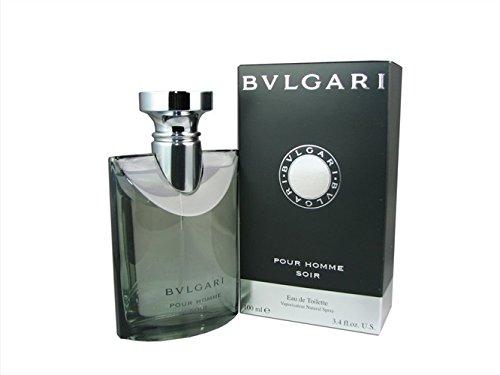( In Mind ) Bvlgari Pour Homme Soir By Bvlgari For Men 3.4 oz. ( NEW Authentic and Fast Shipping - Bvlgari Black Bag