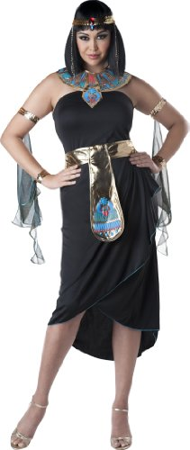 InCharacter Costumes Women's Plus-Size Cleopatra Costume, Black/Gold,