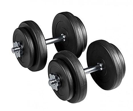 Juego de pesas cortas total: 18 kg 14 piezas 4 x 2,5 y